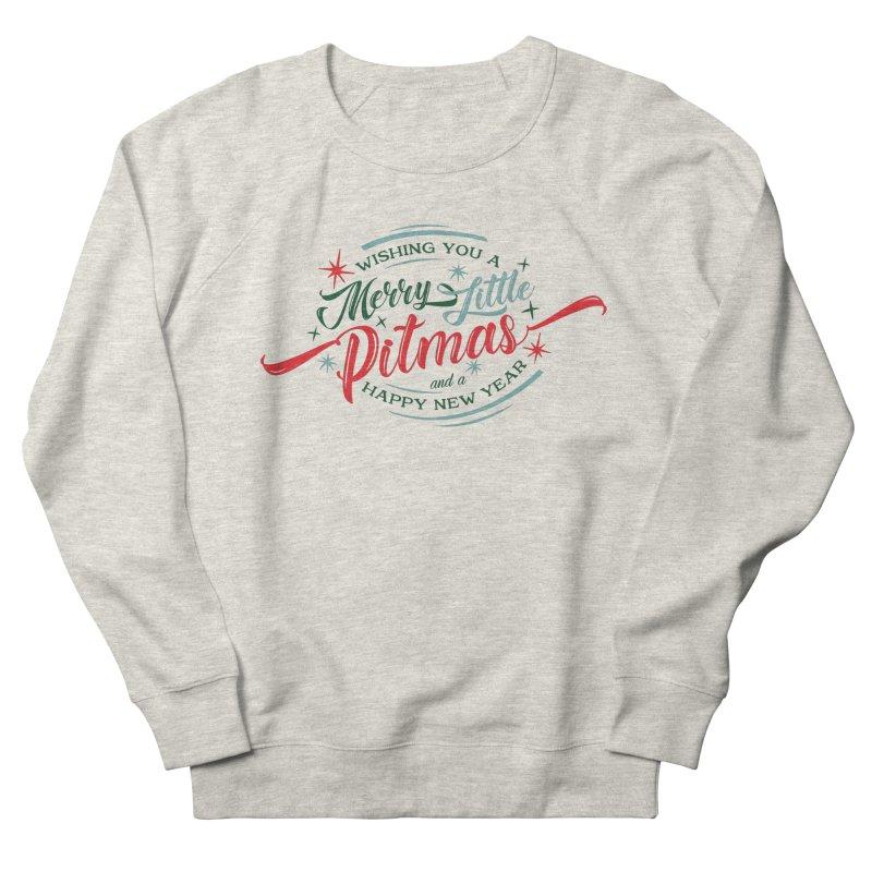 Merry Little Pitmas Men's Sweatshirt by Pittie Chicks