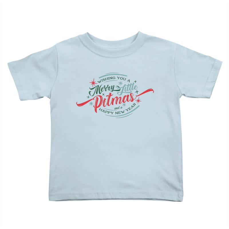 Merry Little Pitmas Kids Toddler T-Shirt by Pittie Chicks