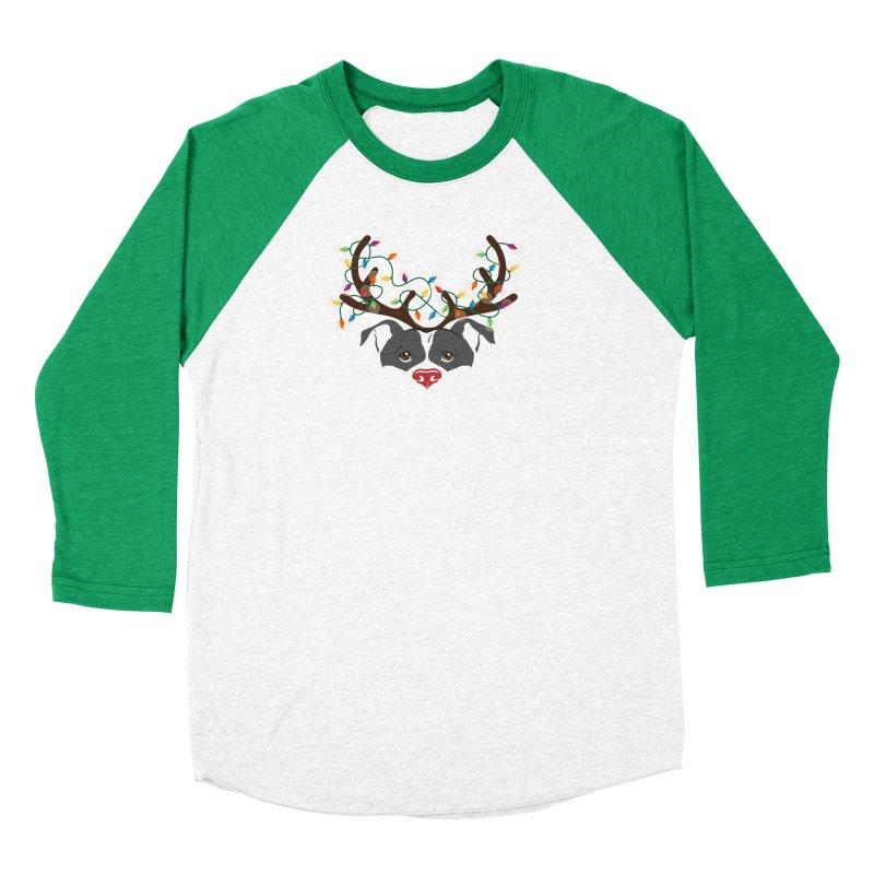 Rudolph ReinBull Women's Longsleeve T-Shirt by Pittie Chicks