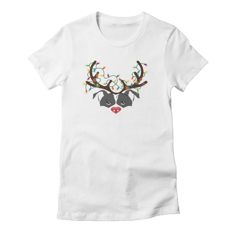 Rudolph ReinBull Women's T-Shirt by Pittie Chicks
