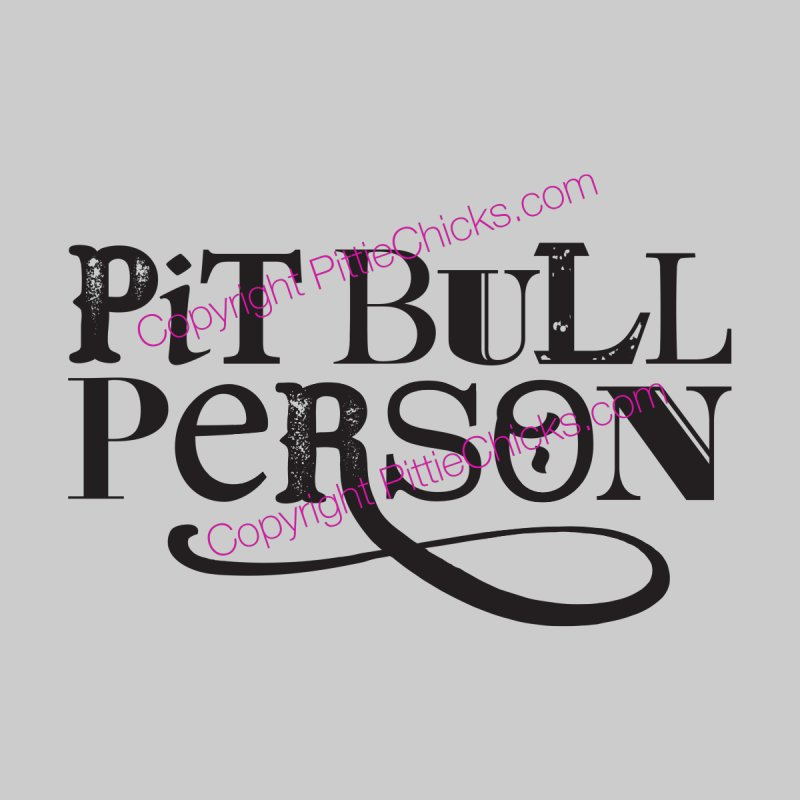 Pit Bull Person - Black Ink Men's Pullover Hoody by Pittie Chicks