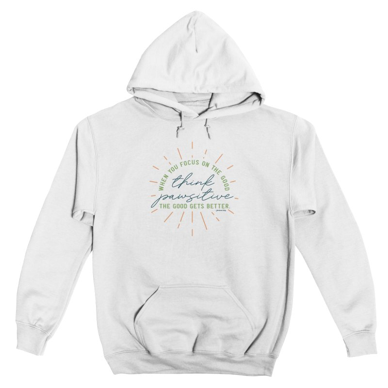 Think Pawsitive - Color Men's Pullover Hoody by Pittie Chicks