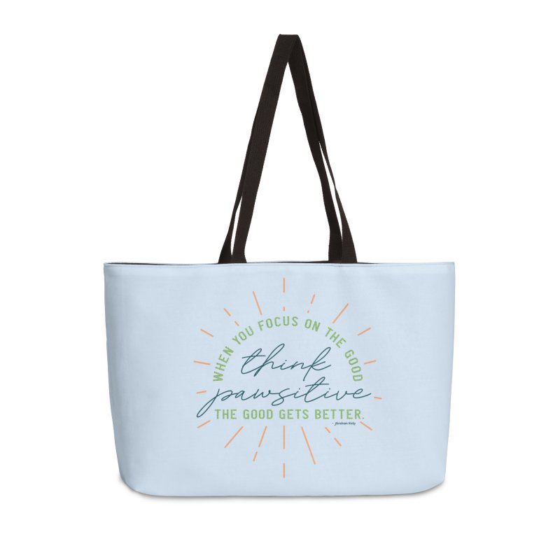 Think Pawsitive - Color Accessories Bag by Pittie Chicks