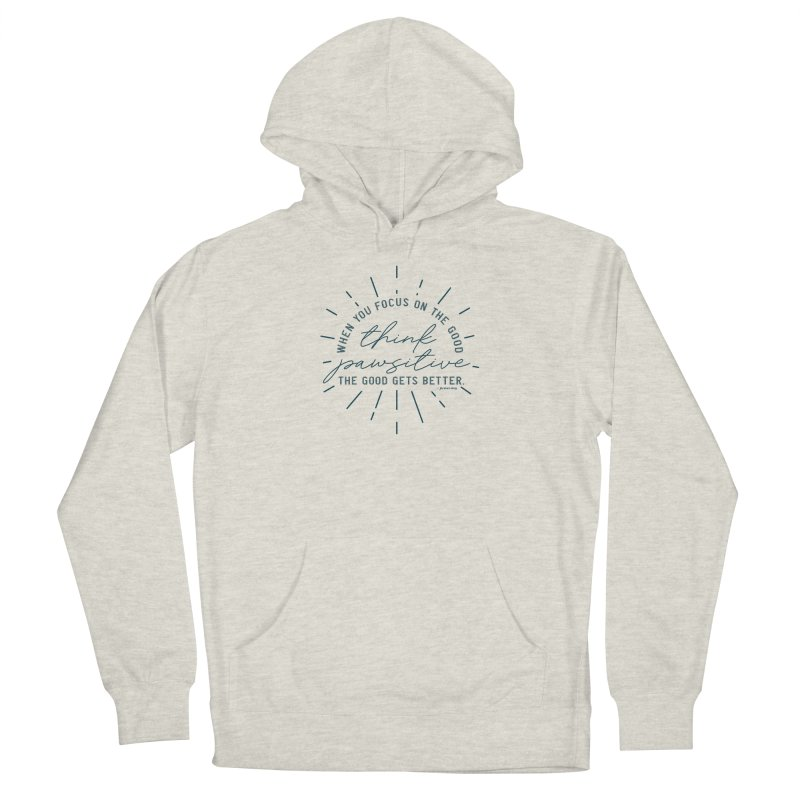 Think Pawsitive - Navy Men's Pullover Hoody by Pittie Chicks