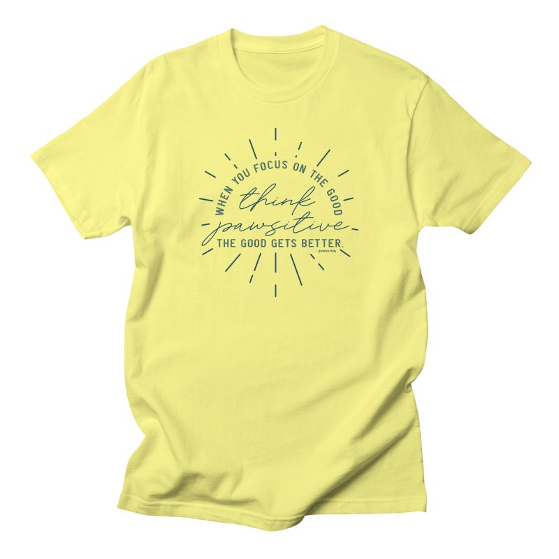 Think Pawsitive - Navy Men's T-Shirt by Pittie Chicks