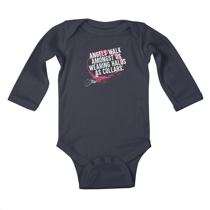 Dogs are Angels Kids Baby Longsleeve Bodysuit by Pittie Chicks