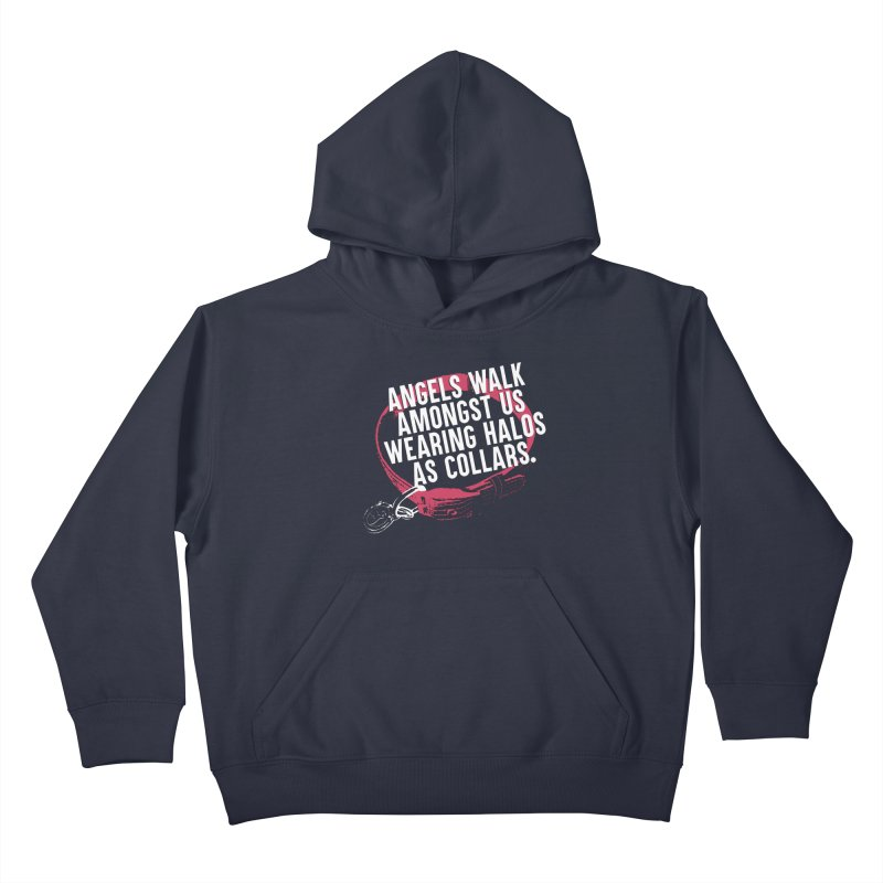 Dogs are Angels Kids Pullover Hoody by Pittie Chicks