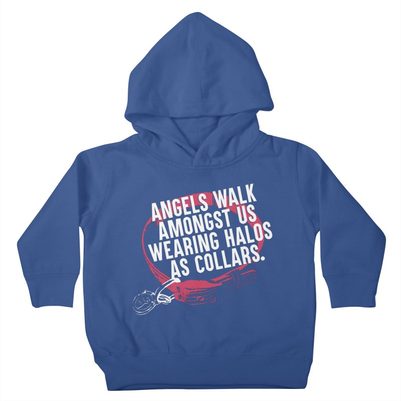 Dogs are Angels Kids Toddler Pullover Hoody by Pittie Chicks