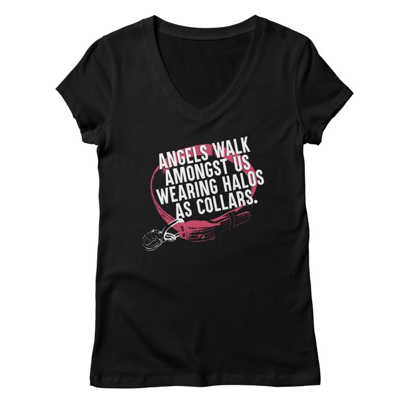 Dogs are Angels Women's V-Neck by Pittie Chicks