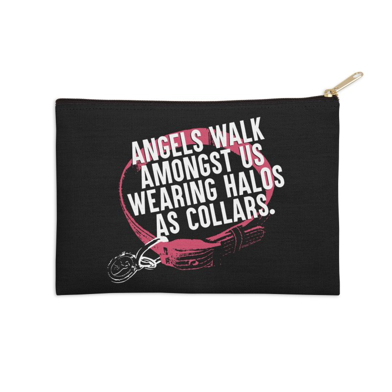 Dogs are Angels Accessories Zip Pouch by Pittie Chicks