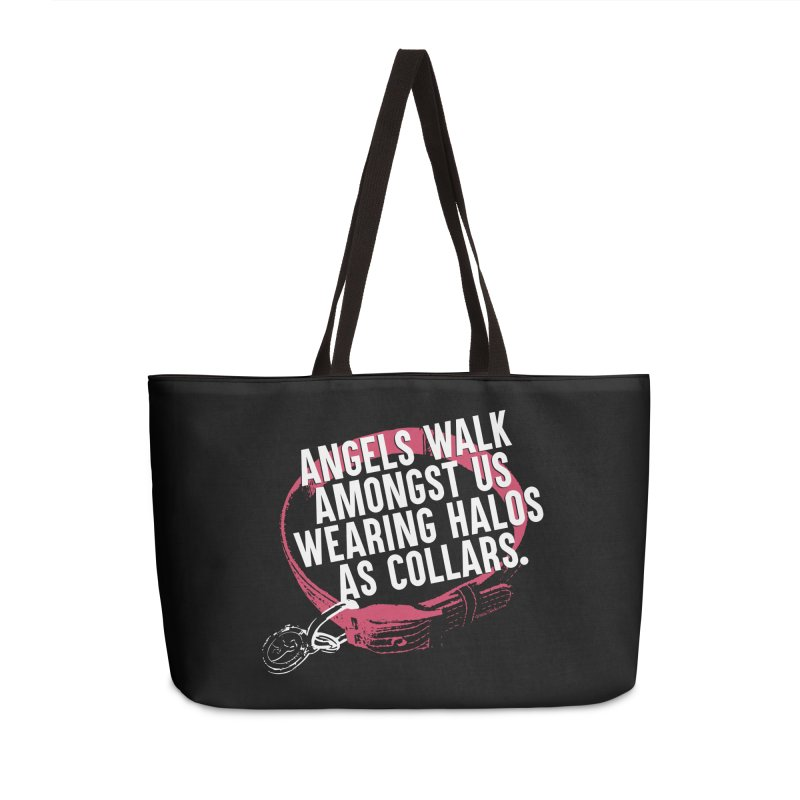 Dogs are Angels Accessories Weekender Bag Bag by Pittie Chicks