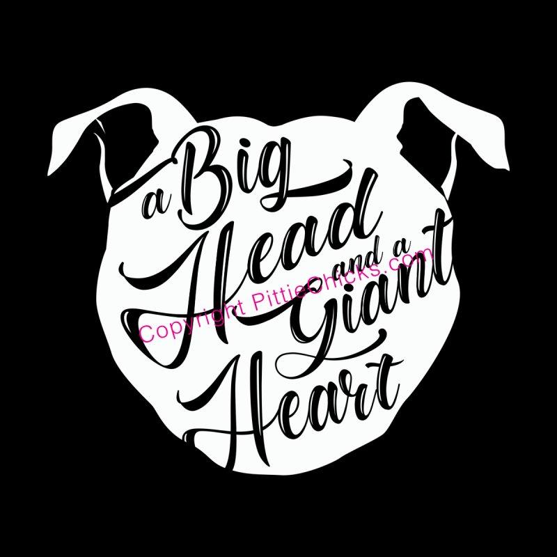 Big Head & Giant Heart Men's Tank by Pittie Chicks