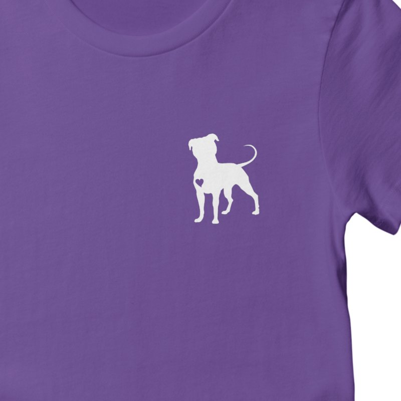 Big Head & Giant Heart Women's T-Shirt by Pittie Chicks