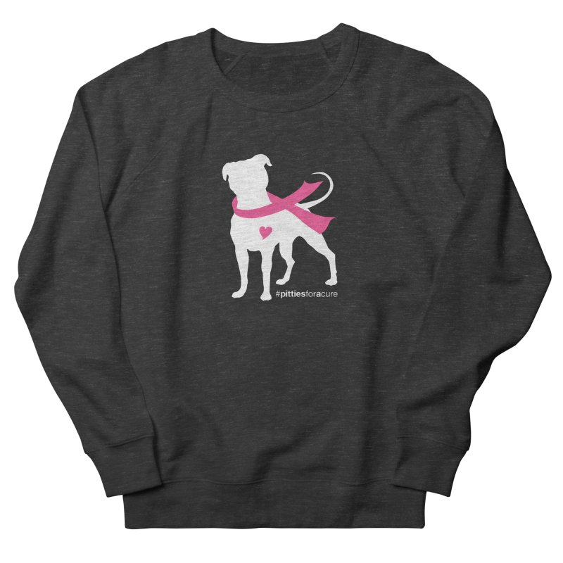 Pitties for a Cure - White Pittie Women's Sweatshirt by Pittie Chicks