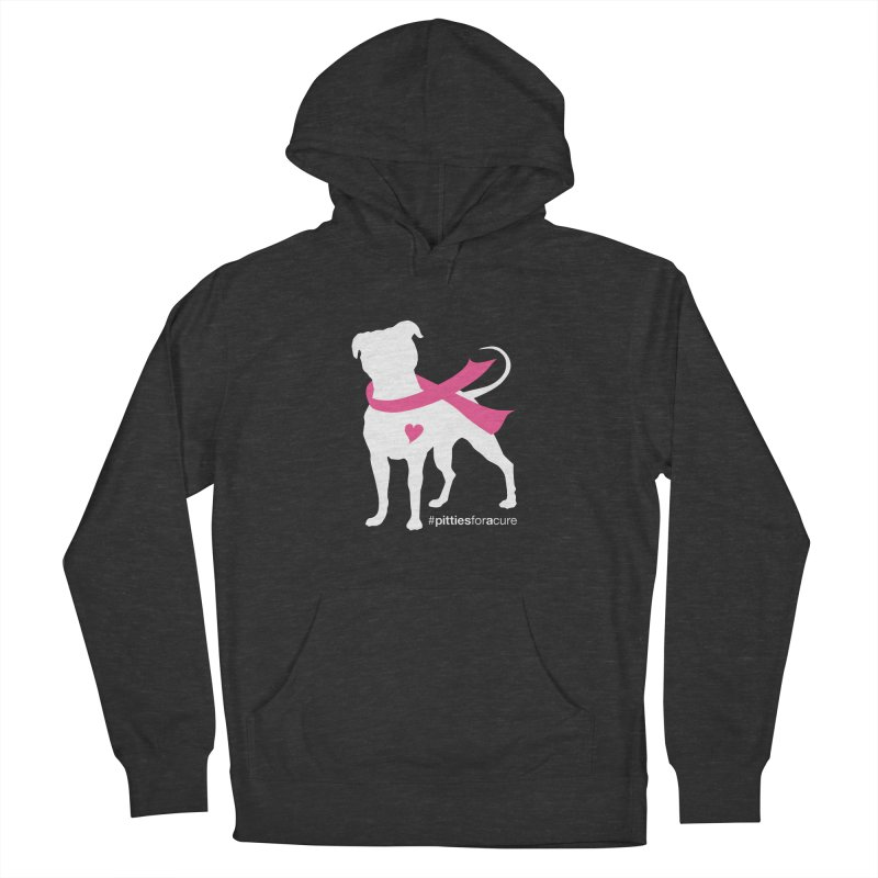 Pitties for a Cure - White Pittie Men's Pullover Hoody by Pittie Chicks