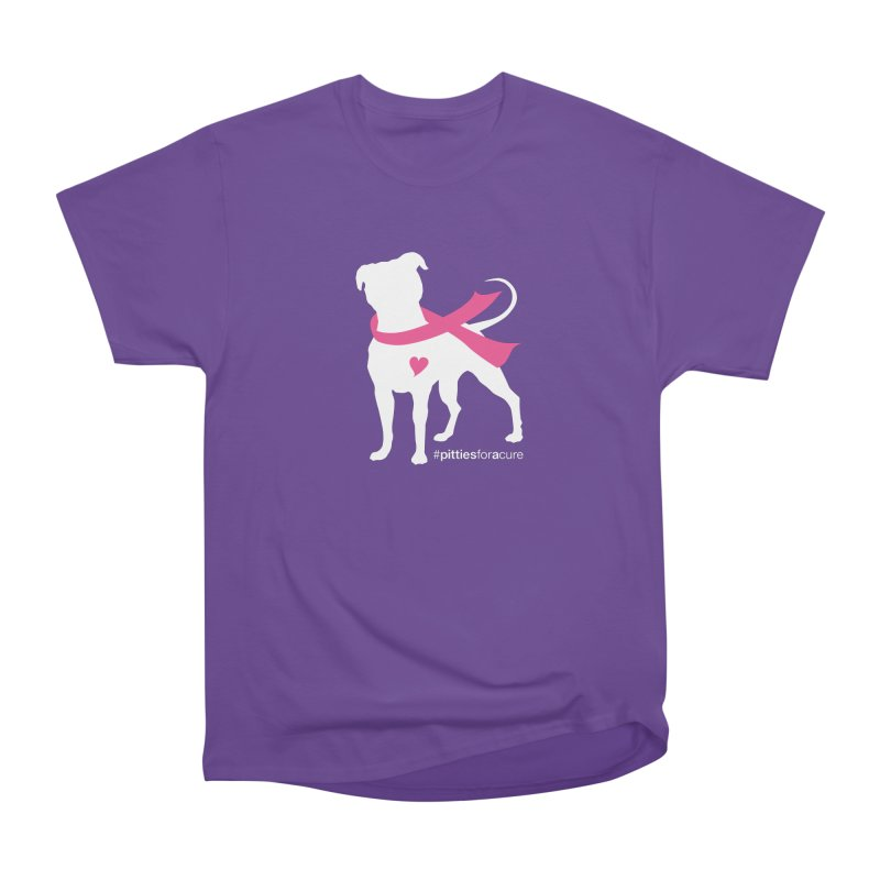 Pitties for a Cure - White Pittie Women's Heavyweight Unisex T-Shirt by Pittie Chicks
