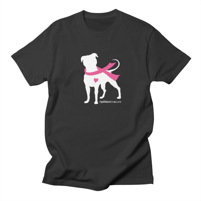 Pitties for a Cure - White Pittie Women's Regular Unisex T-Shirt by Pittie Chicks