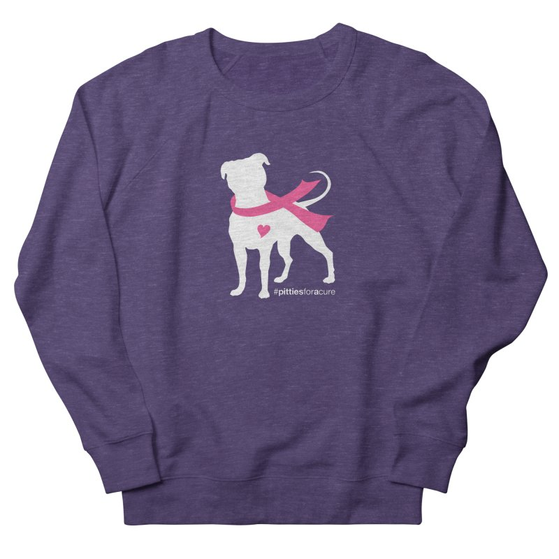 Pitties for a Cure - White Pittie Women's French Terry Sweatshirt by Pittie Chicks