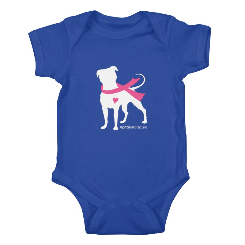 Pitties for a Cure - White Pittie Kids Baby Bodysuit by Pittie Chicks