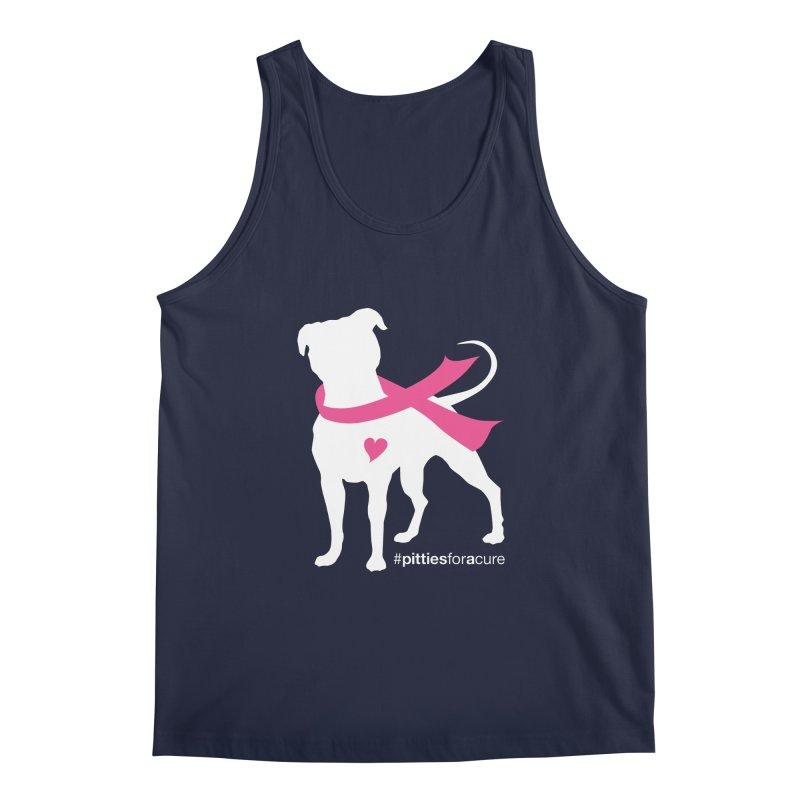 Pitties for a Cure - White Pittie Men's Regular Tank by Pittie Chicks