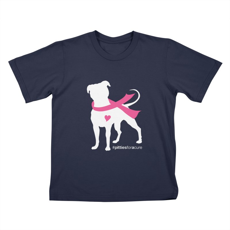 Pitties for a Cure - White Pittie Kids T-Shirt by Pittie Chicks
