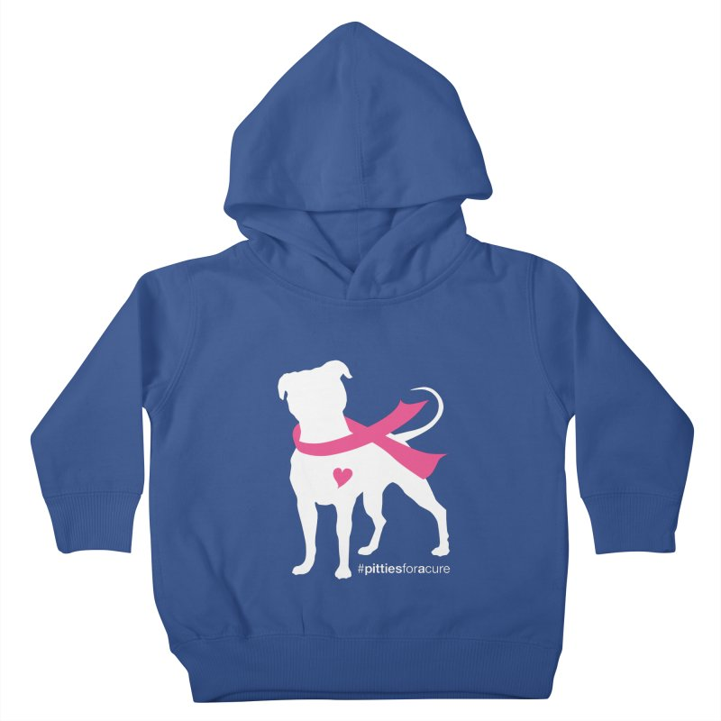 Pitties for a Cure - White Pittie Kids Toddler Pullover Hoody by Pittie Chicks