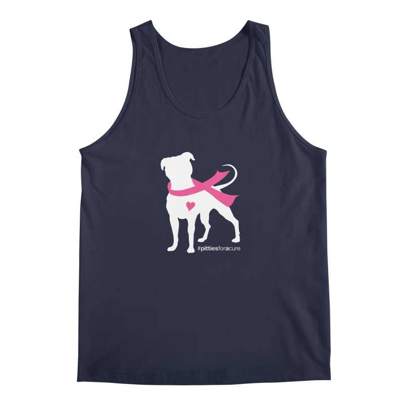 Pitties for a Cure - White Pittie Men's Tank by Pittie Chicks