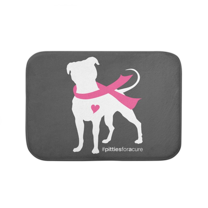 Pitties for a Cure - White Pittie Home Bath Mat by Pittie Chicks