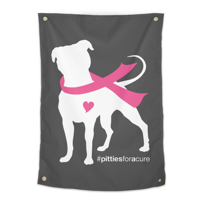 Pitties for a Cure - White Pittie Home Tapestry by Pittie Chicks