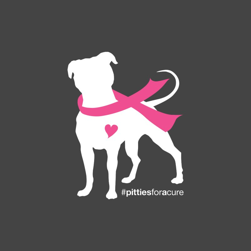 Pitties for a Cure - White Pittie Accessories Greeting Card by Pittie Chicks