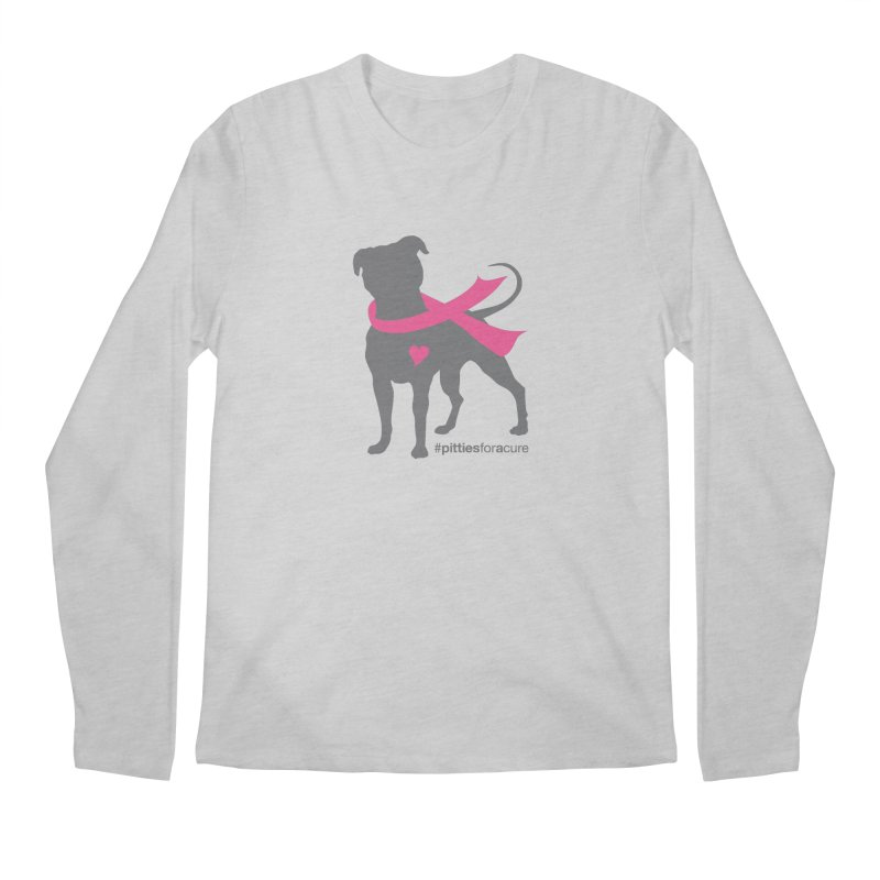 Pitties for a Cure - Charcoal Pittie Men's Regular Longsleeve T-Shirt by Pittie Chicks