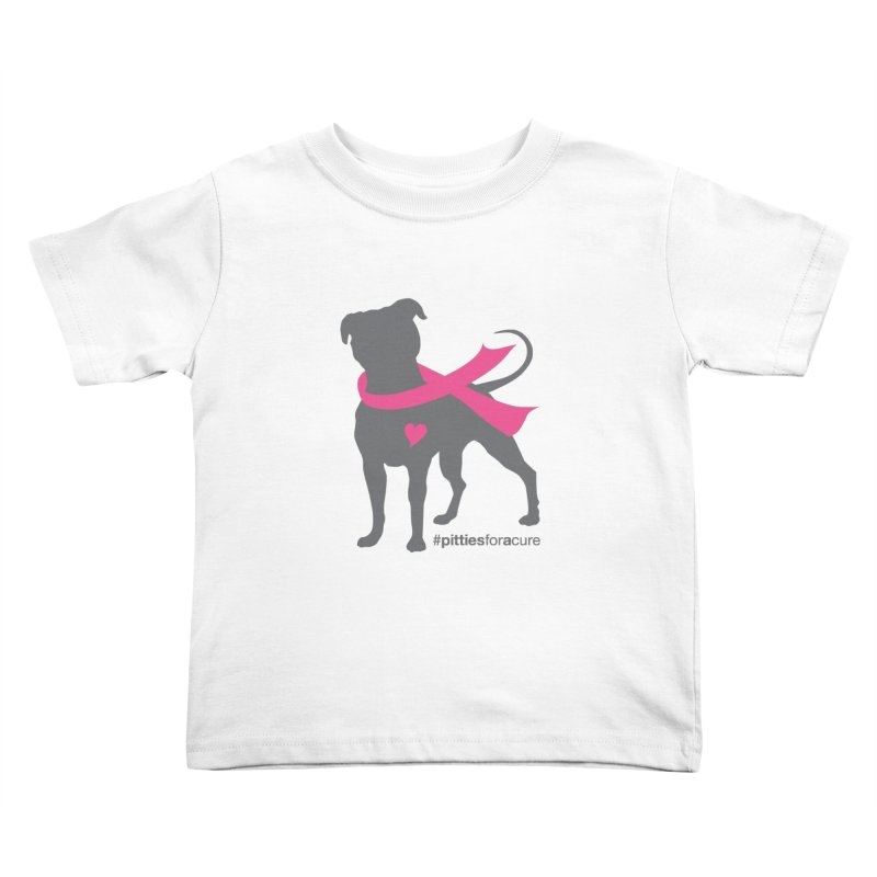 Pitties for a Cure - Charcoal Pittie Kids Toddler T-Shirt by Pittie Chicks