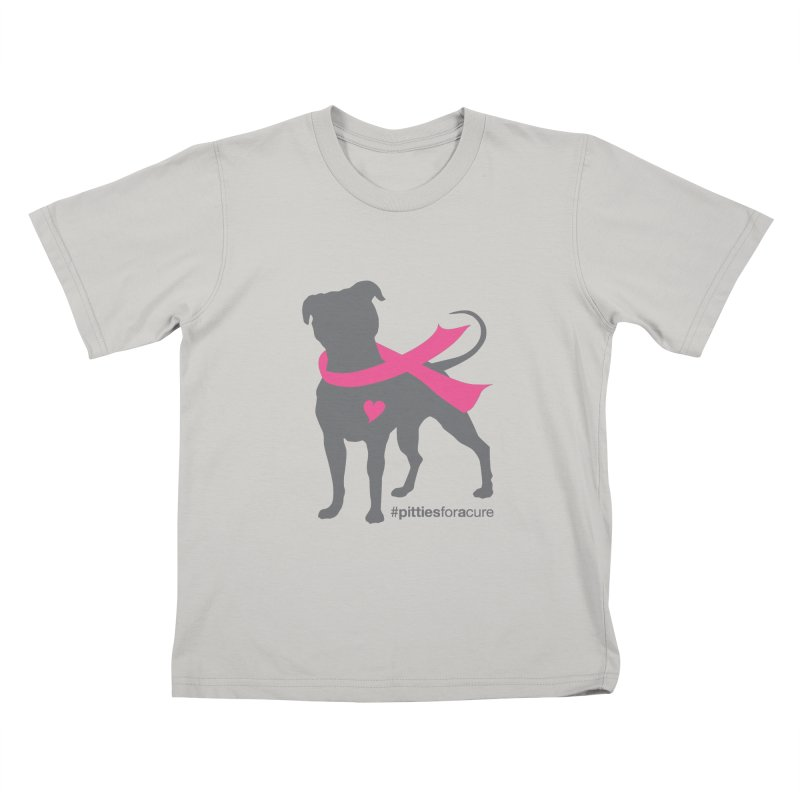 Pitties for a Cure - Charcoal Pittie Kids T-Shirt by Pittie Chicks