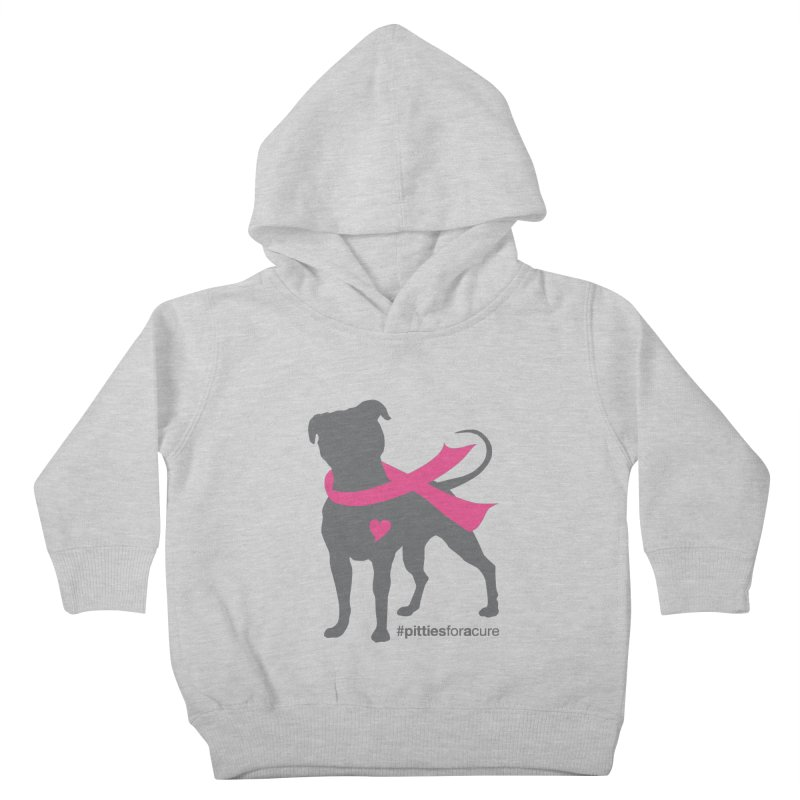 Pitties for a Cure - Charcoal Pittie Kids Toddler Pullover Hoody by Pittie Chicks