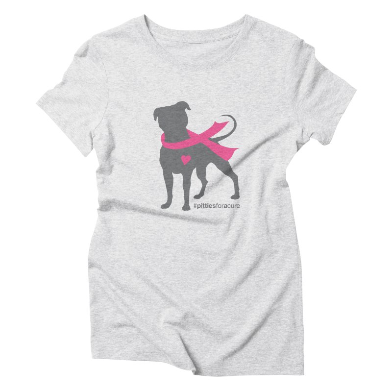 Pitties for a Cure - Charcoal Pittie Women's Triblend T-Shirt by Pittie Chicks
