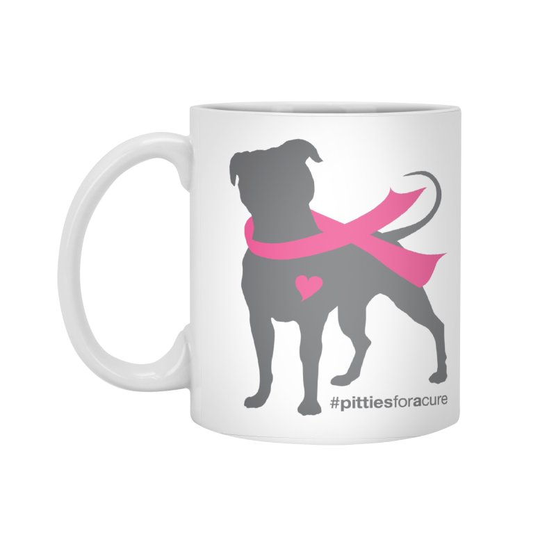Pitties for a Cure - Charcoal Pittie Accessories Standard Mug by Pittie Chicks
