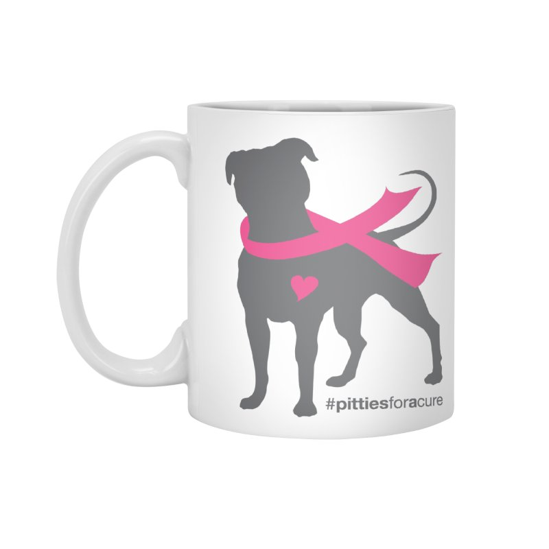 Pitties for a Cure - Charcoal Pittie Accessories Mug by Pittie Chicks