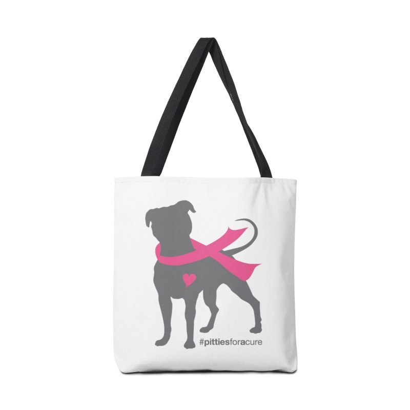 Pitties for a Cure - Charcoal Pittie Accessories Tote Bag Bag by Pittie Chicks