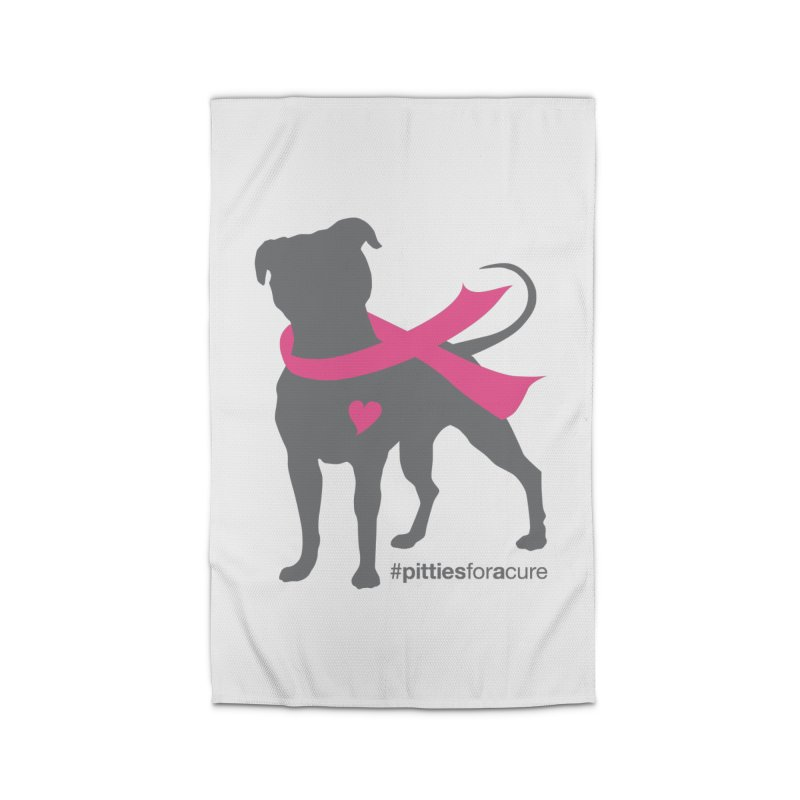 Pitties for a Cure - Charcoal Pittie Home Rug by Pittie Chicks
