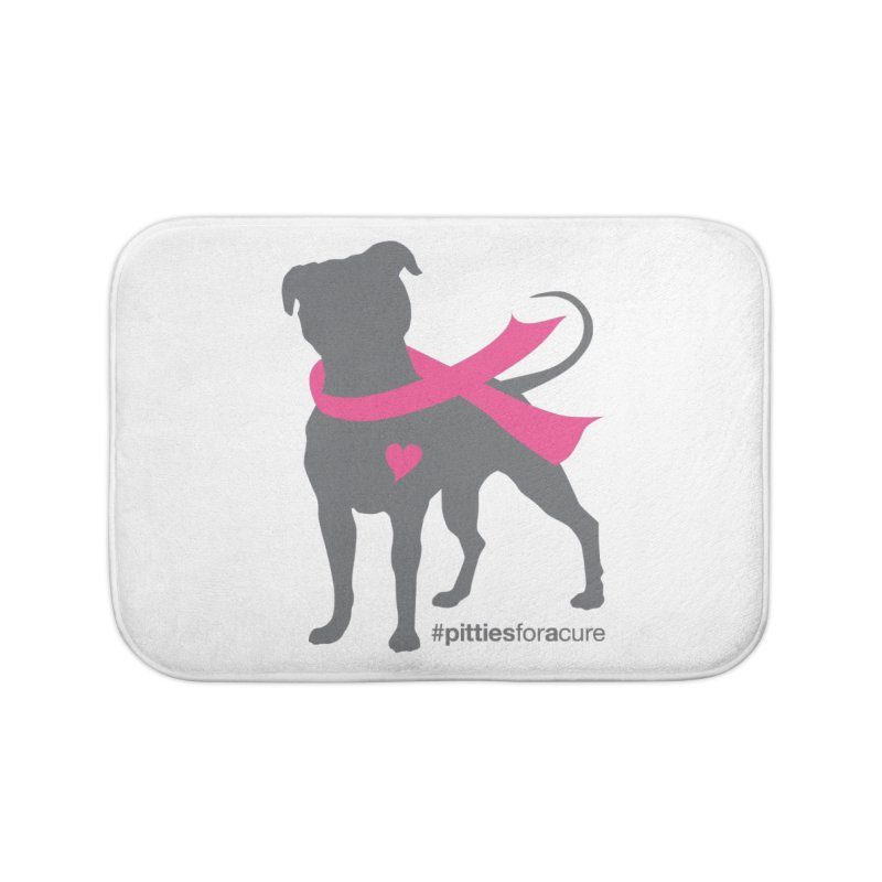 Pitties for a Cure - Charcoal Pittie Home Bath Mat by Pittie Chicks