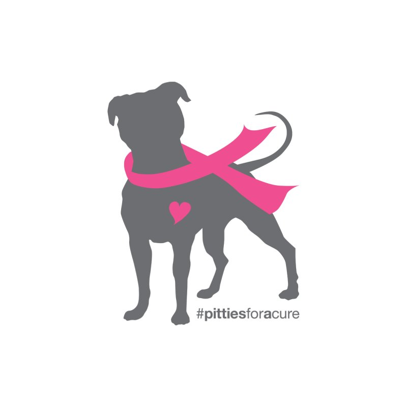 Pitties for a Cure - Charcoal Pittie Accessories Phone Case by Pittie Chicks