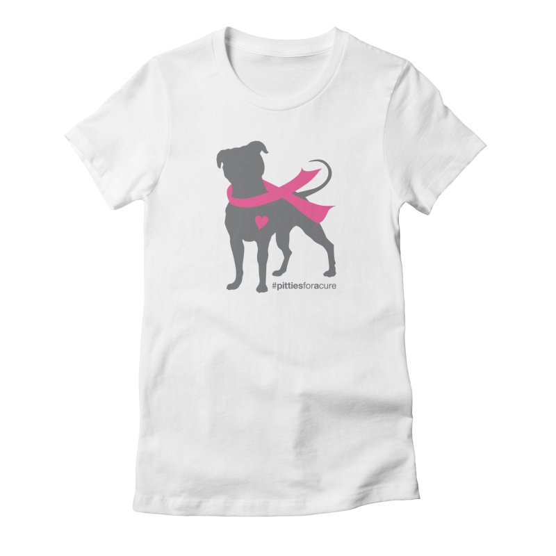 Pitties for a Cure - Charcoal Pittie Women's T-Shirt by Pittie Chicks
