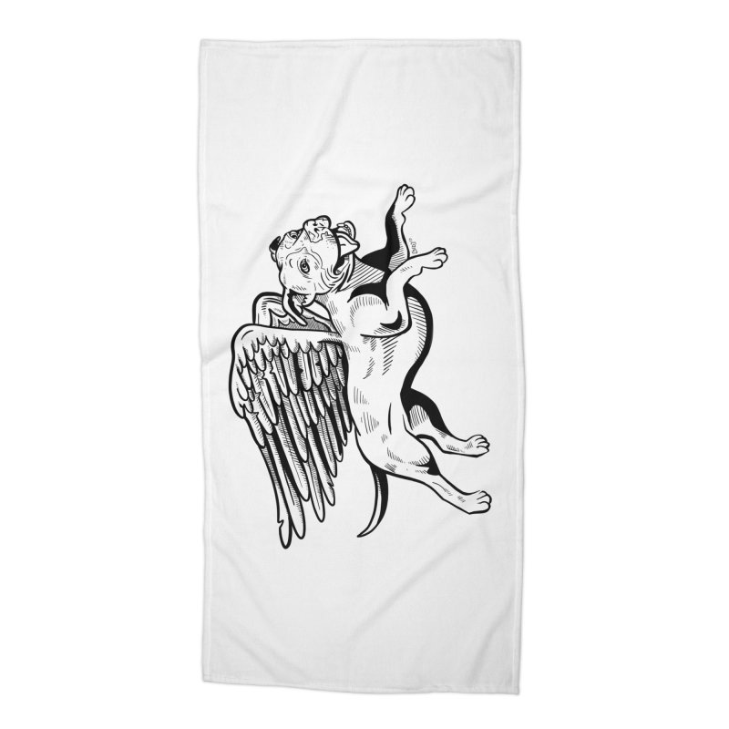 Helping Hurricane Harvey : Flying Pit Accessories Beach Towel by Pittie Chicks