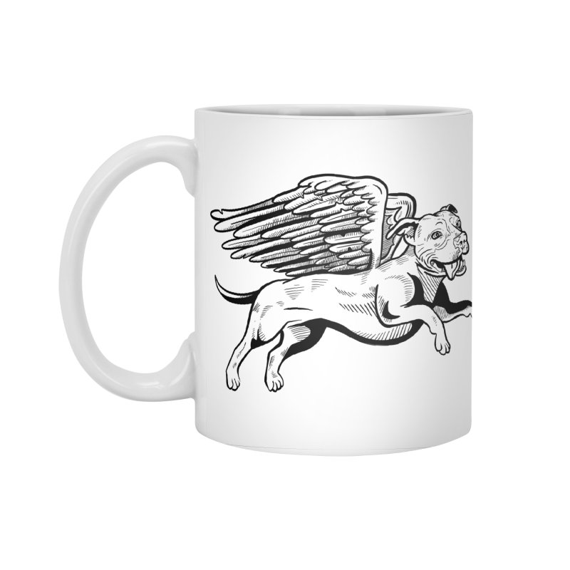 Flying Pit Accessories Standard Mug by Pittie Chicks