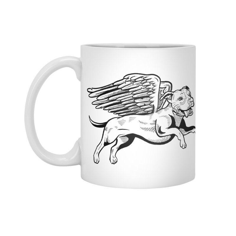 Helping Hurricane Harvey : Flying Pit Accessories Mug by Pittie Chicks