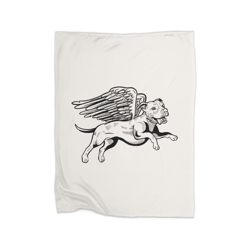 Helping Hurricane Harvey : Flying Pit Home Blanket by Pittie Chicks