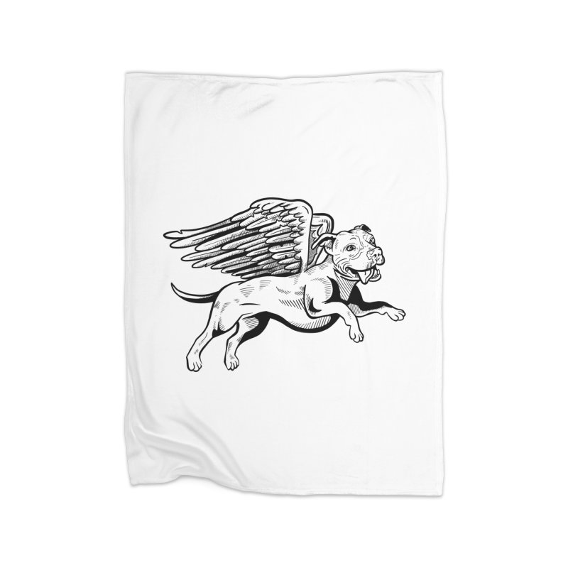 Flying Pit Home Blanket by Pittie Chicks