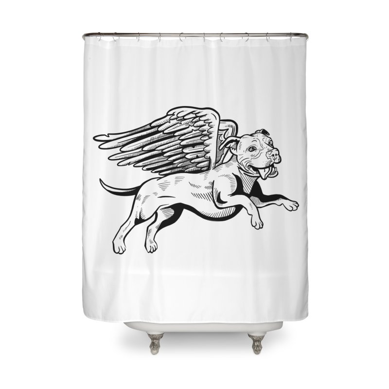 Flying Pit Home Shower Curtain by Pittie Chicks