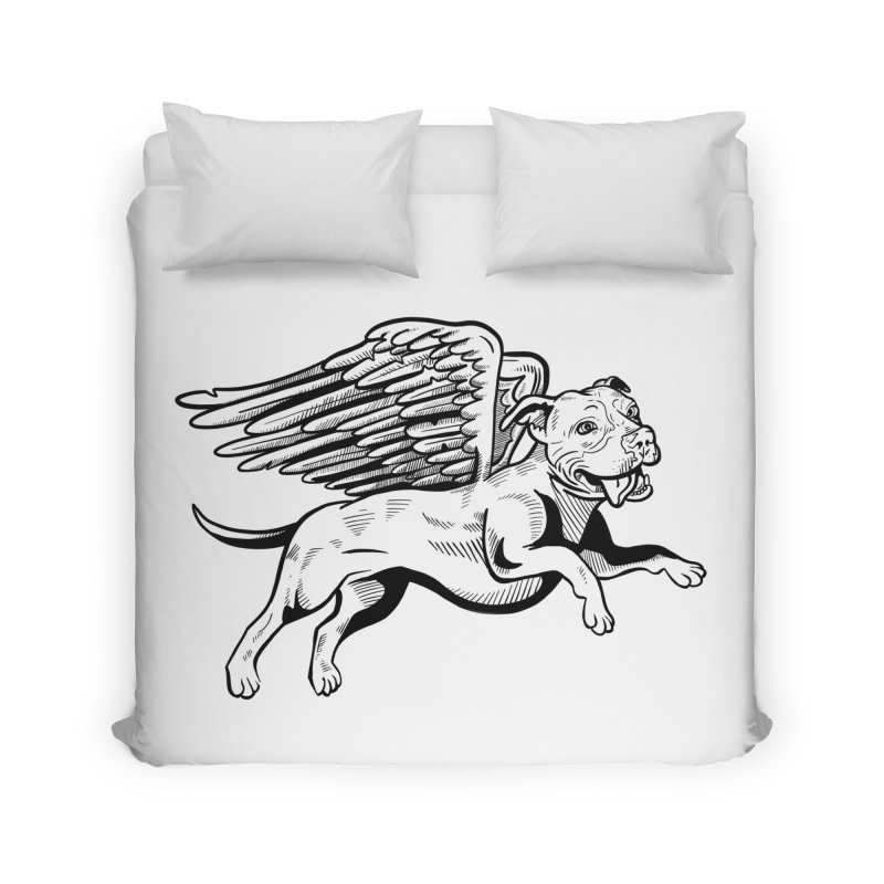 Flying Pit Home Duvet by Pittie Chicks