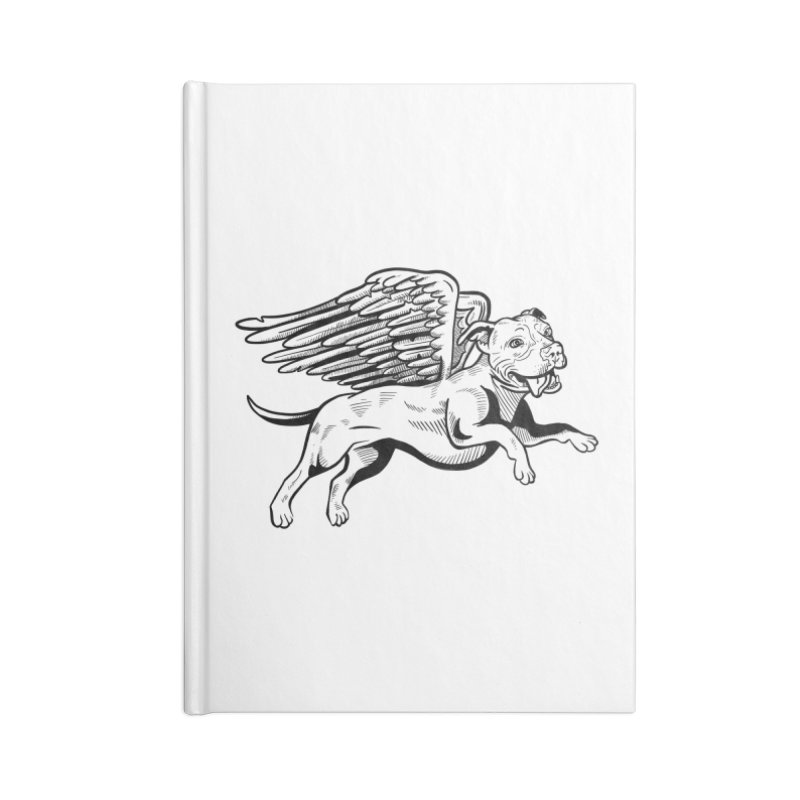 Flying Pit Accessories Blank Journal Notebook by Pittie Chicks